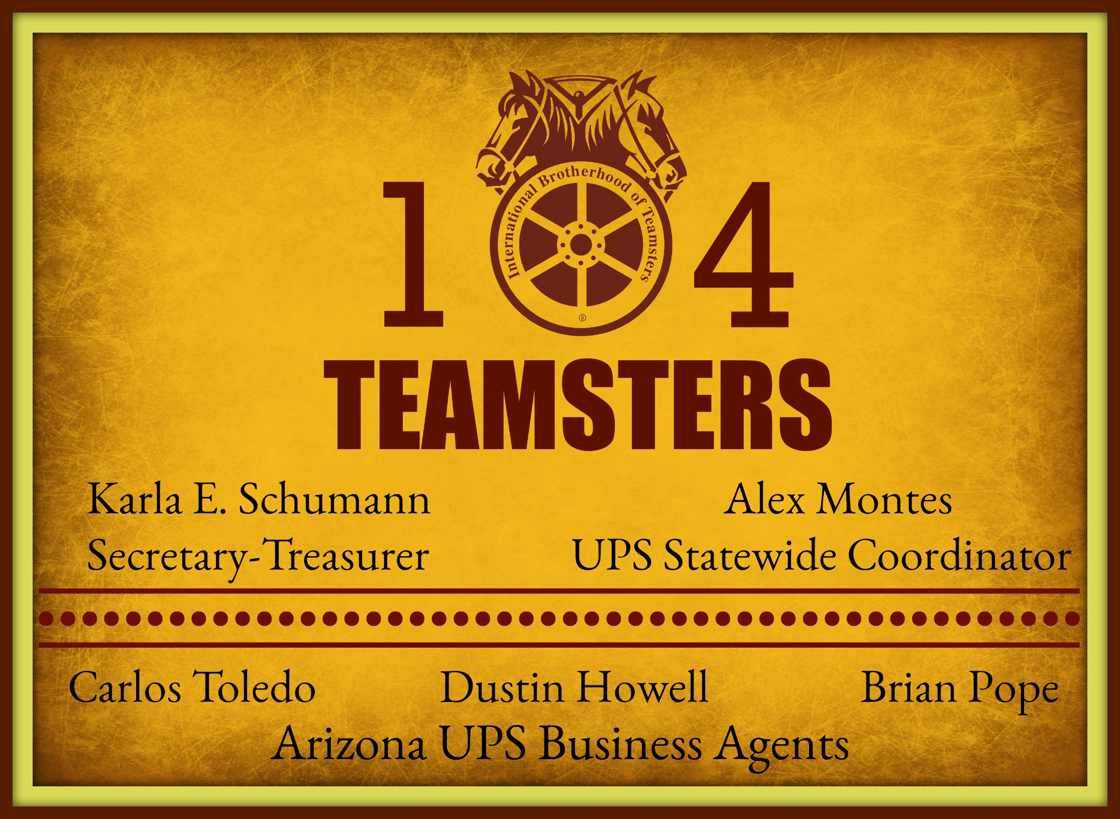 Teamsters Local Union No 104 Ups